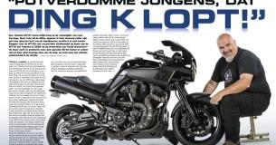 Lars Courage en zijn Yamaha MT-0S