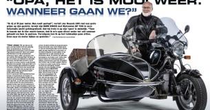 Jos Kessels en zijn BMW R100S-zijspan