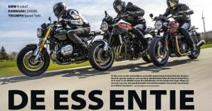 Vergelijkingstest Triumph Speed Twin – BMW R nineT – Kawasaki Z900RS