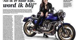 Serena Talo en haar Moto Guzzi Sportster 1150