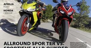 Vergelijkingstest Aprilia RS660 – Honda CBR650R