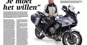 Ibolya Moór en haar Honda CBF600