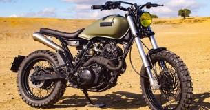 Yamaha XT tot scrambler omgetoverd door Lord Drake Customs