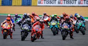 Chaos tijdens MotoGP-wedstrijd in Le Mans