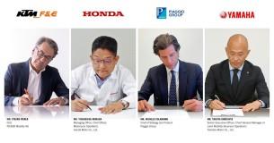 Honda, KTM, Yamaha en Piaggio samen in stroom