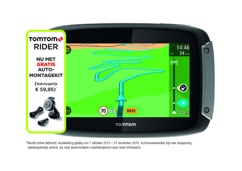 gratis automontagekit bij tomtom rider 40 400 motoplus. Black Bedroom Furniture Sets. Home Design Ideas
